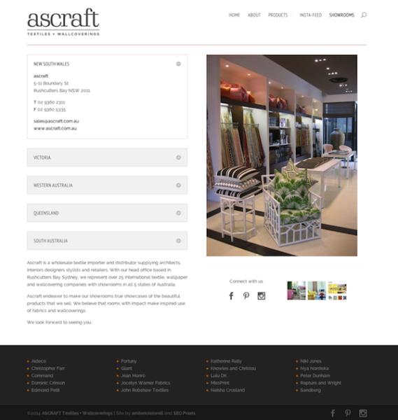 Ascraft showrooms