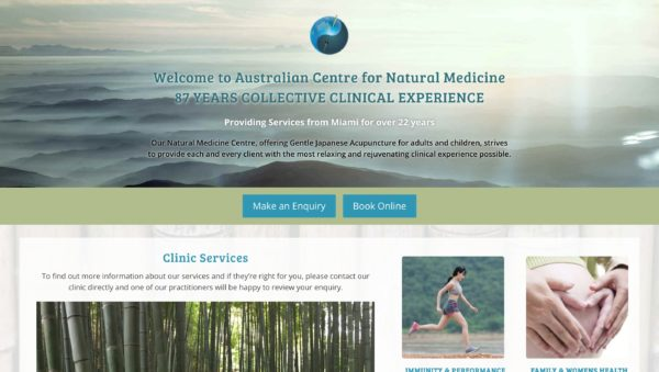 Australian Centre for Natural Medicine screenshot