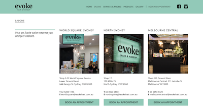 Evoke Hair   Makeup Salons   Locations and Contact Information