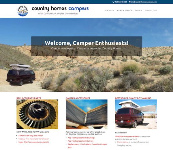 country homes campers screenschot
